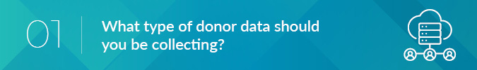 donor data and donor communication