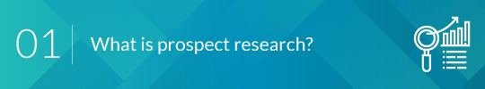 What is prospect research