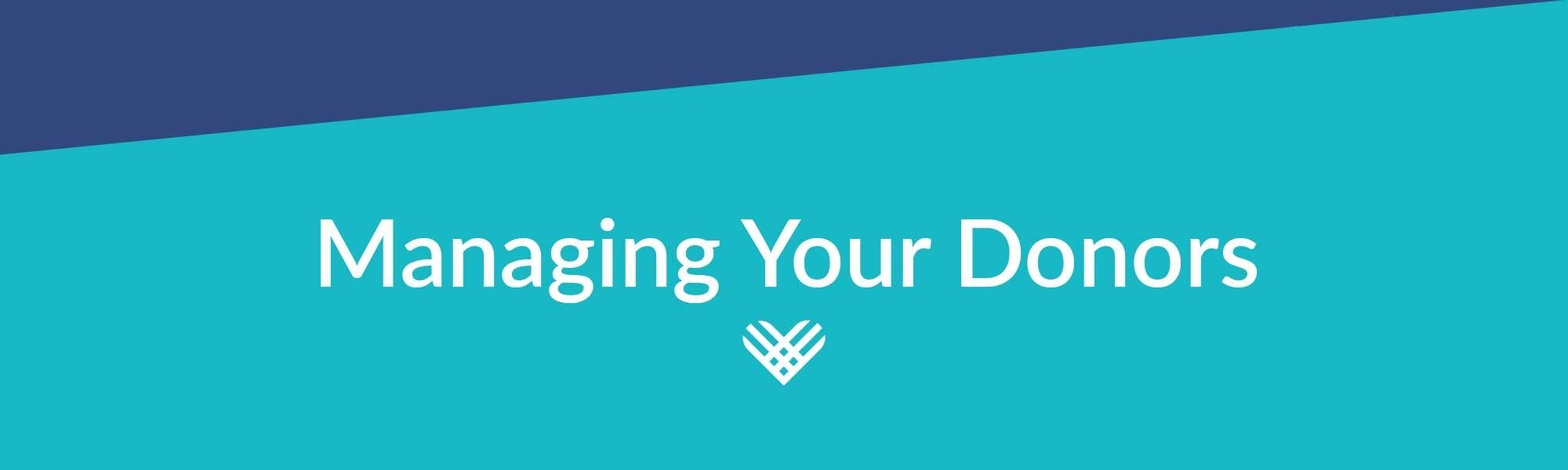 header image for managing your donors on giving tuesday