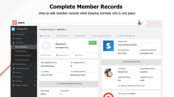 Product image of Join It membership management software