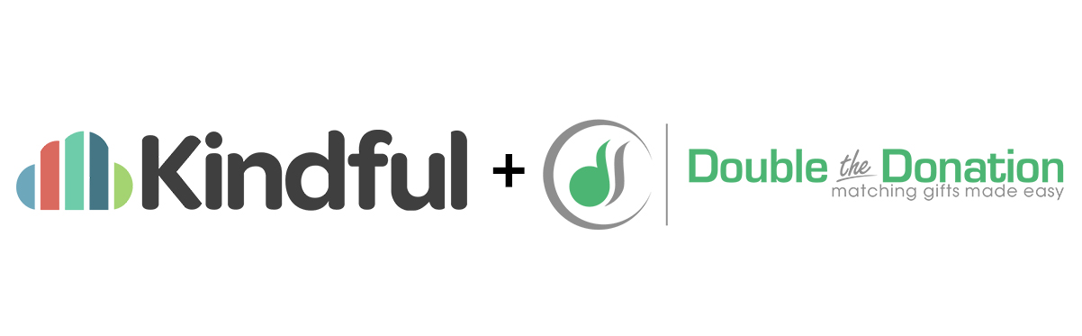 Kindful and double the donation logos