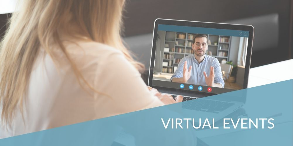 header image for using virtual events