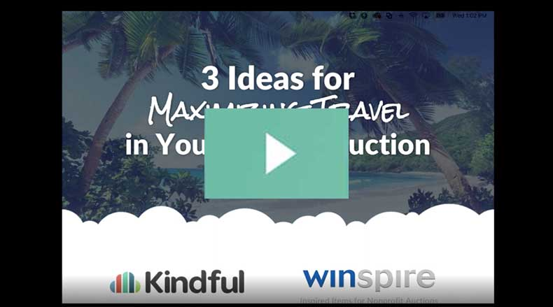 [Webinar Recap] 3 Ideas for Maximizing Travel at Your Auction header image