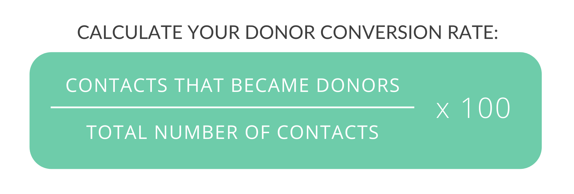 formula to calculate donor conversion rate