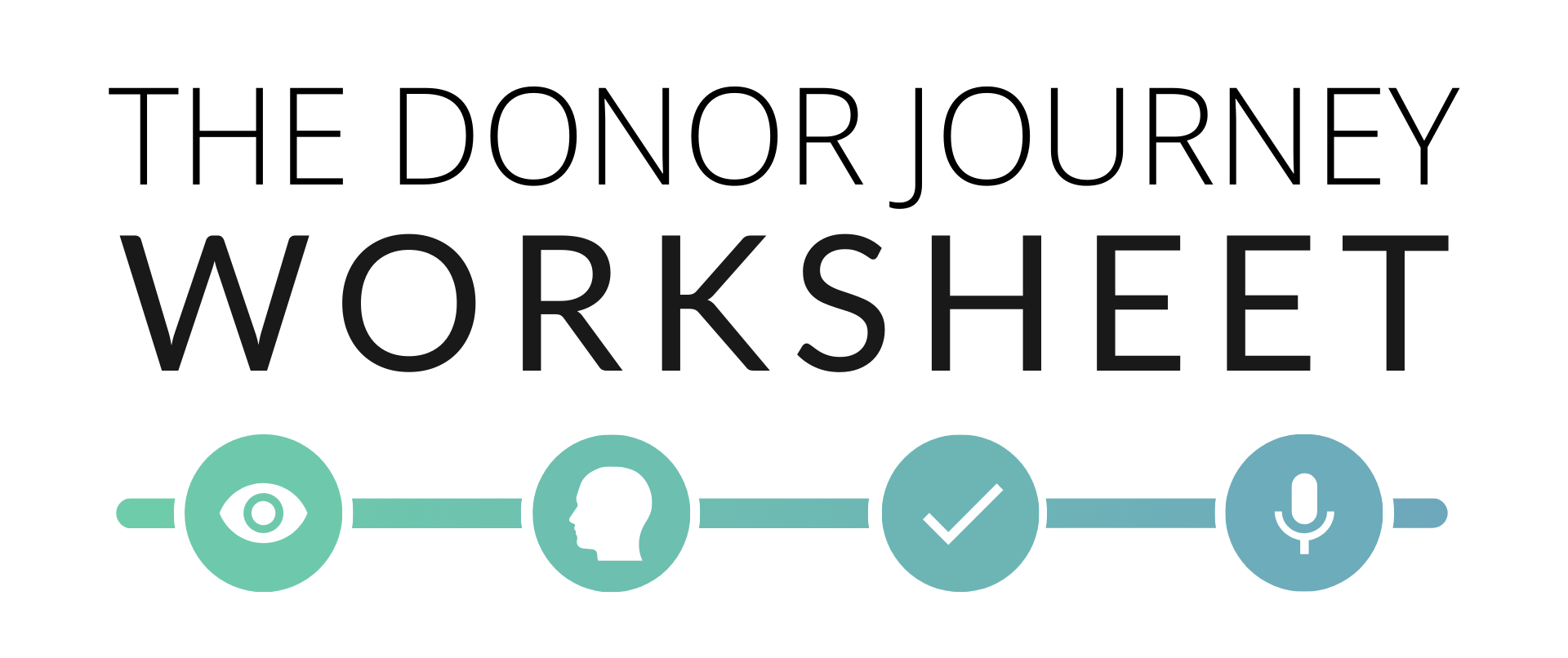 Call to action to download the donor journey mapping worksheet