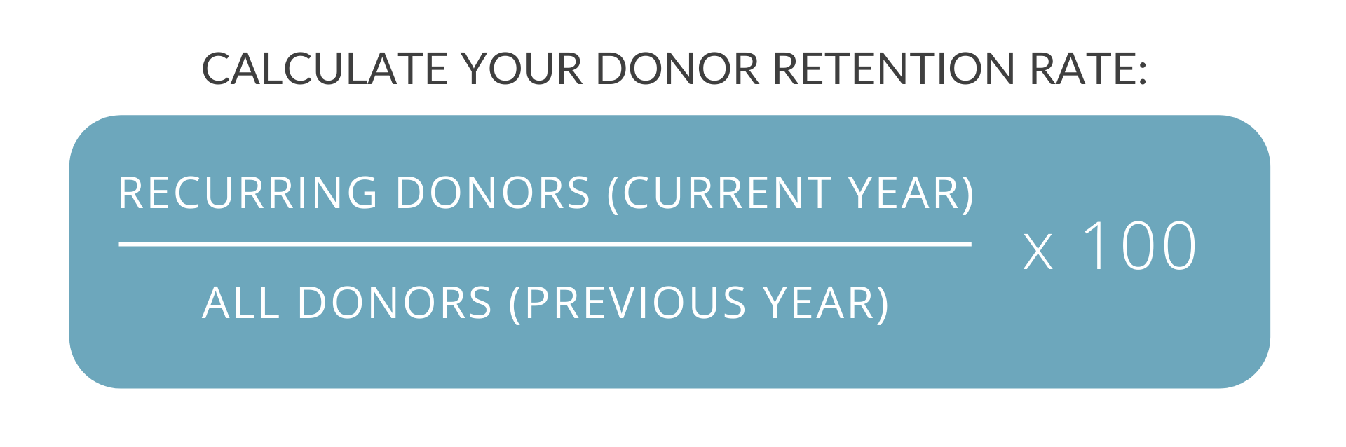 formula to calculate donor retention rate