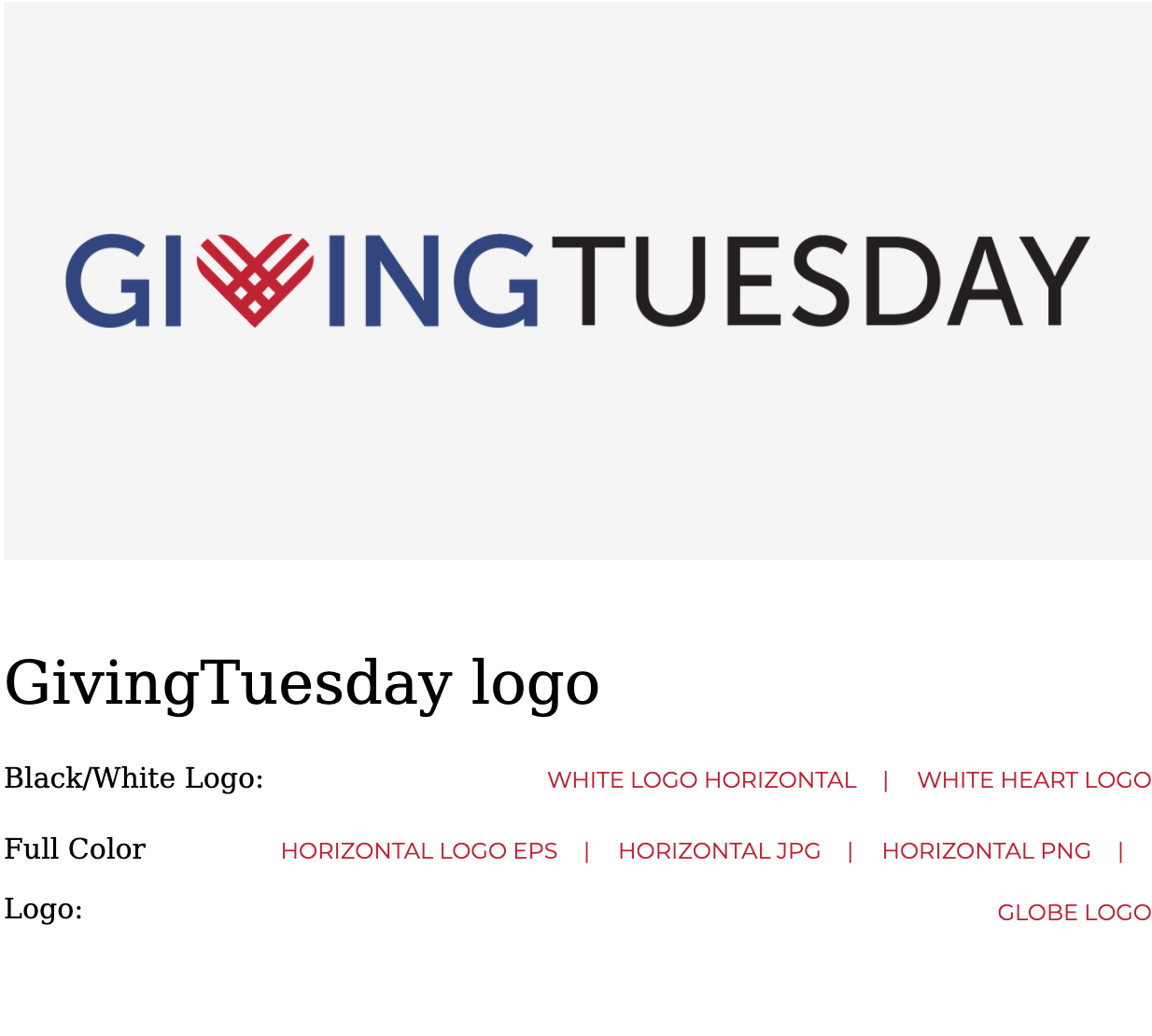 screenshot of giving tuesday graphics