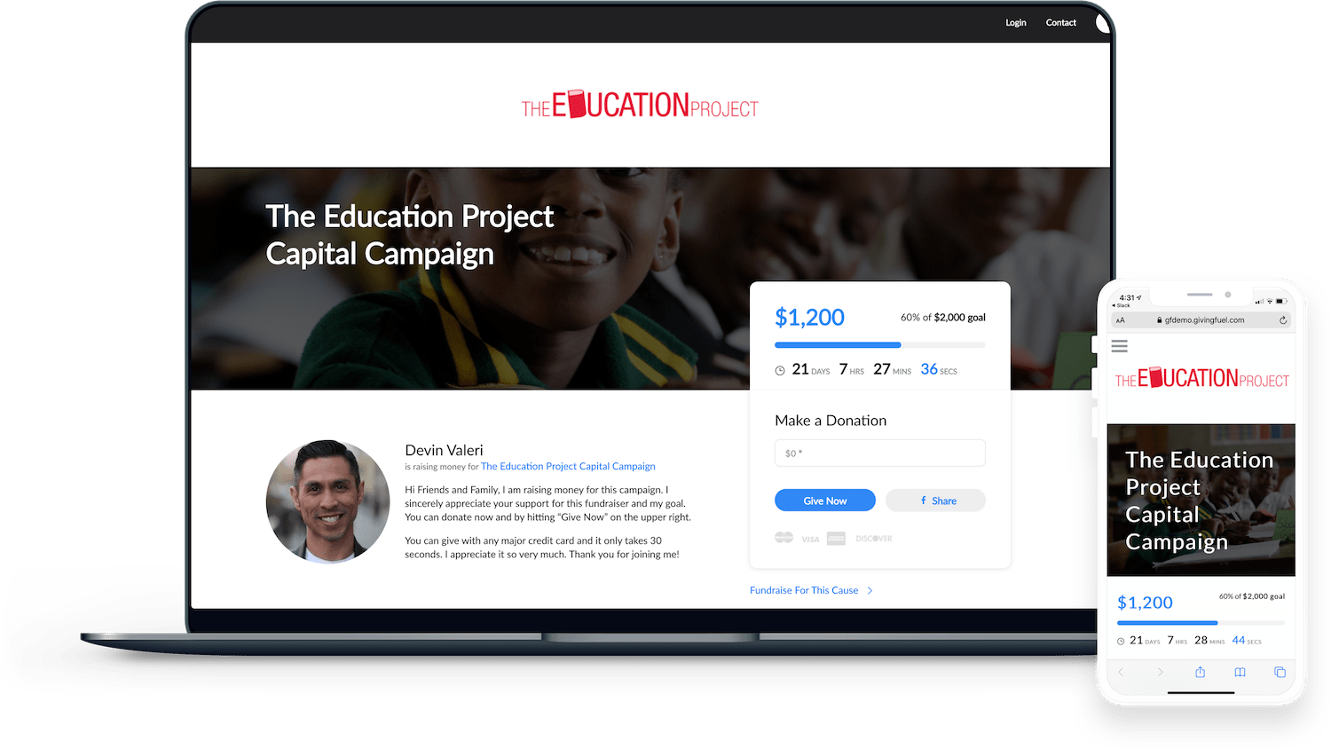 product image of givingfuel online fundraising software