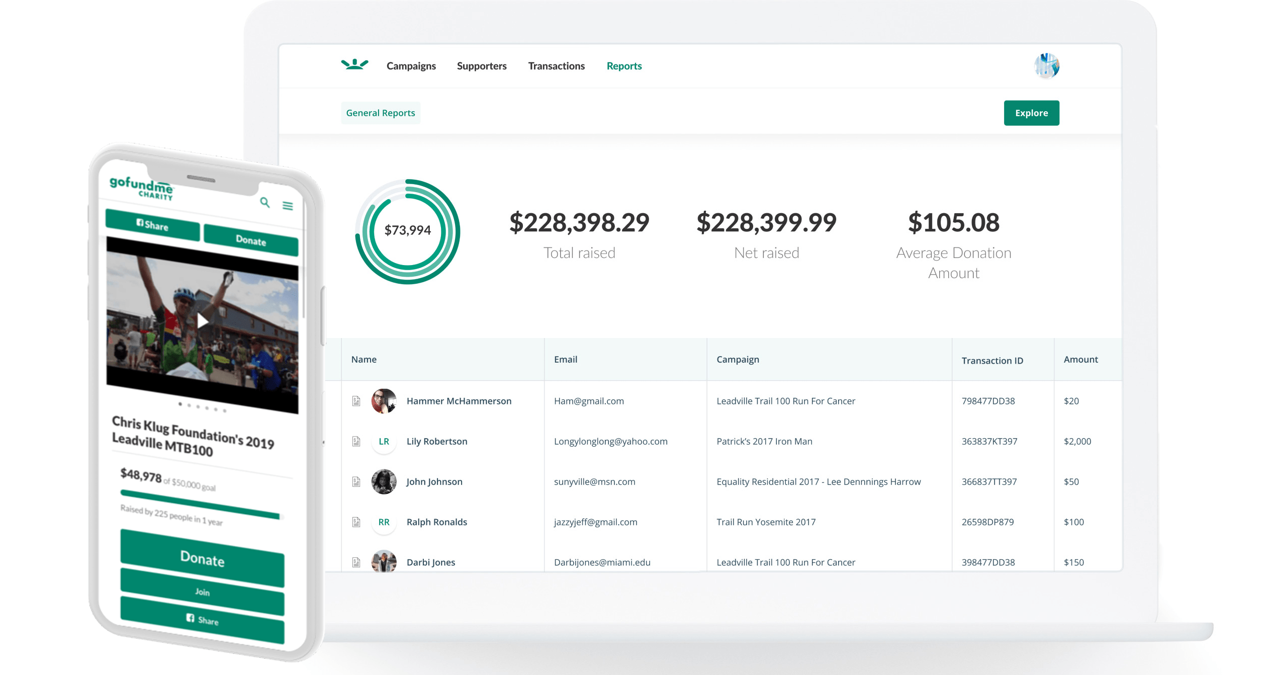 product image of gofundme charitys online fundraising software
