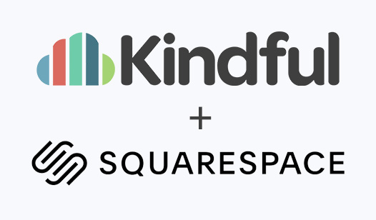 kindful and squarespace logos