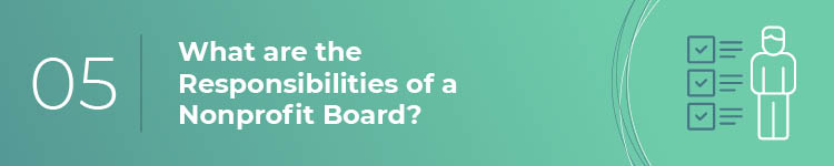 What are the responsibilities of a nonprofit board of directors?