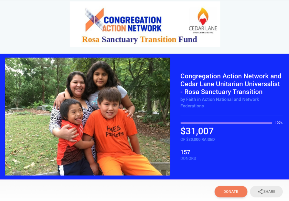 Example of a nonprofit fundraising specifically for an individual