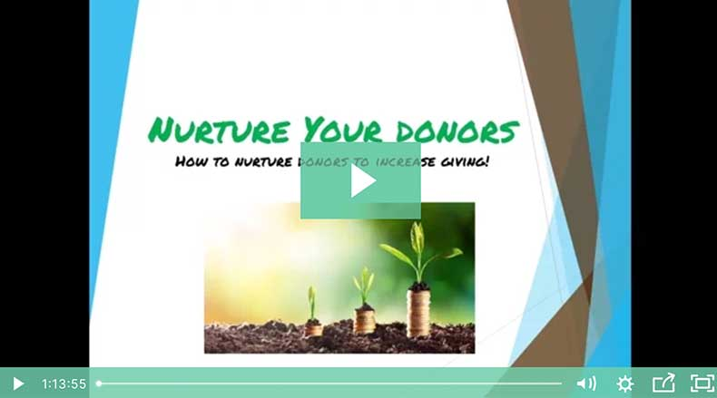 how to nurture donors webinar header image
