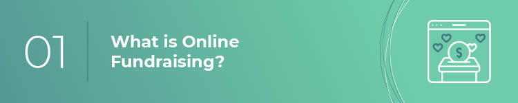 What is online fundraising?