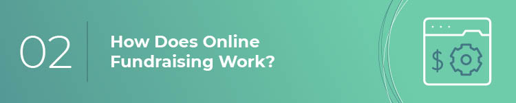 How does online fundraising work?