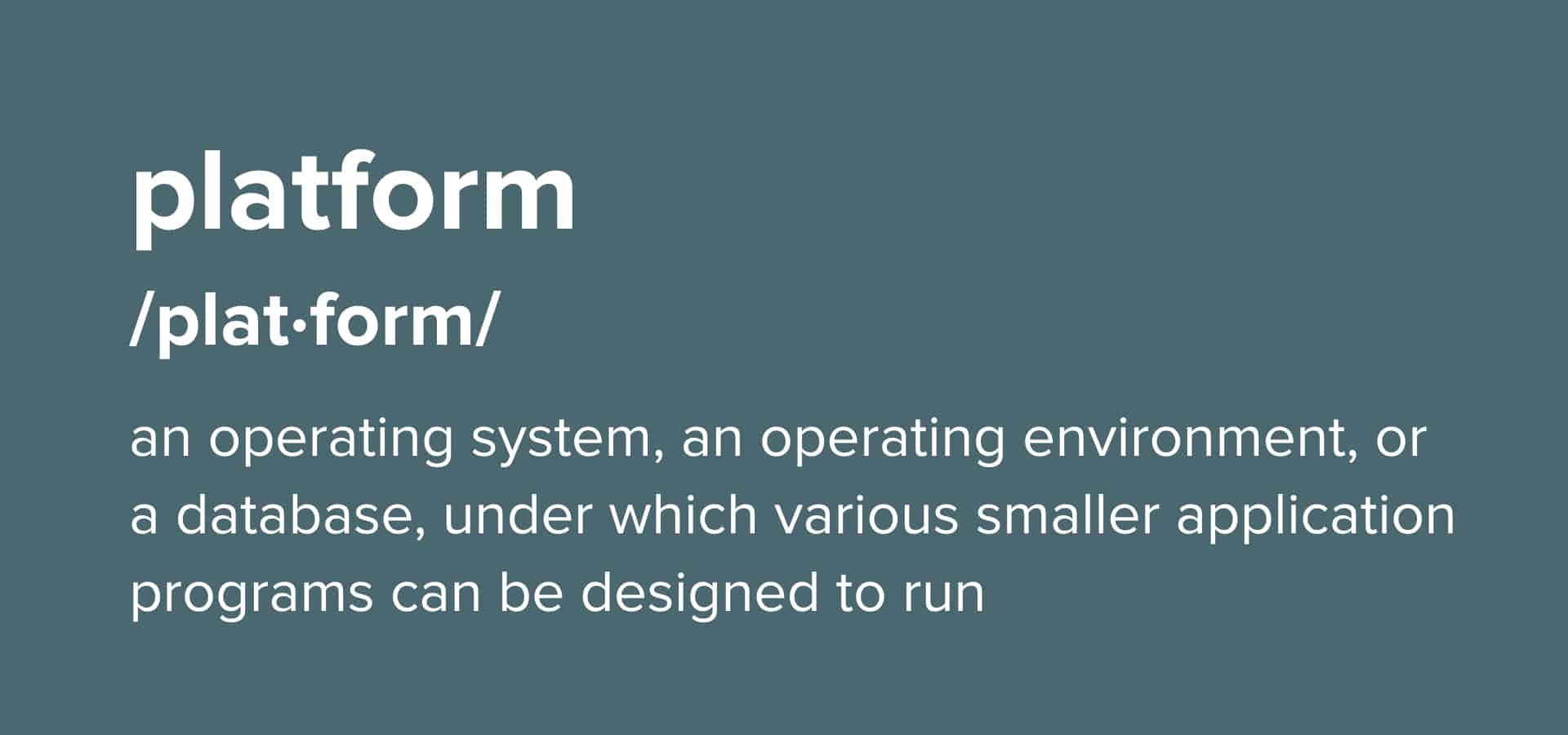 technology platform definition