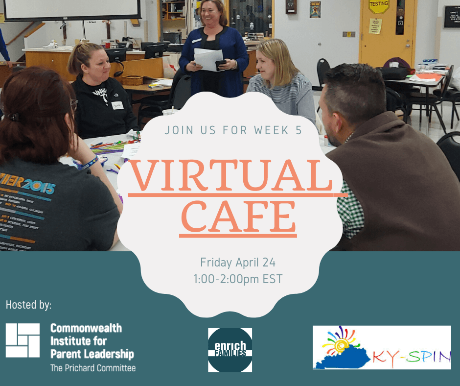 Banner of Prichard Community's Virtual Cafe for parents