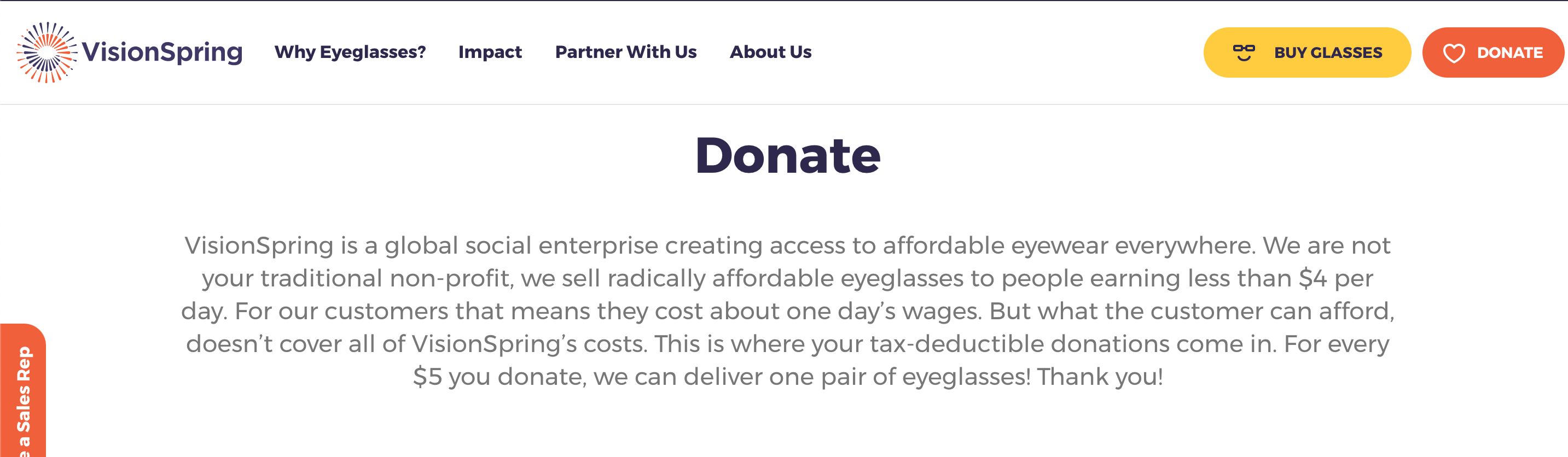 example of nonprofit offering product for donation