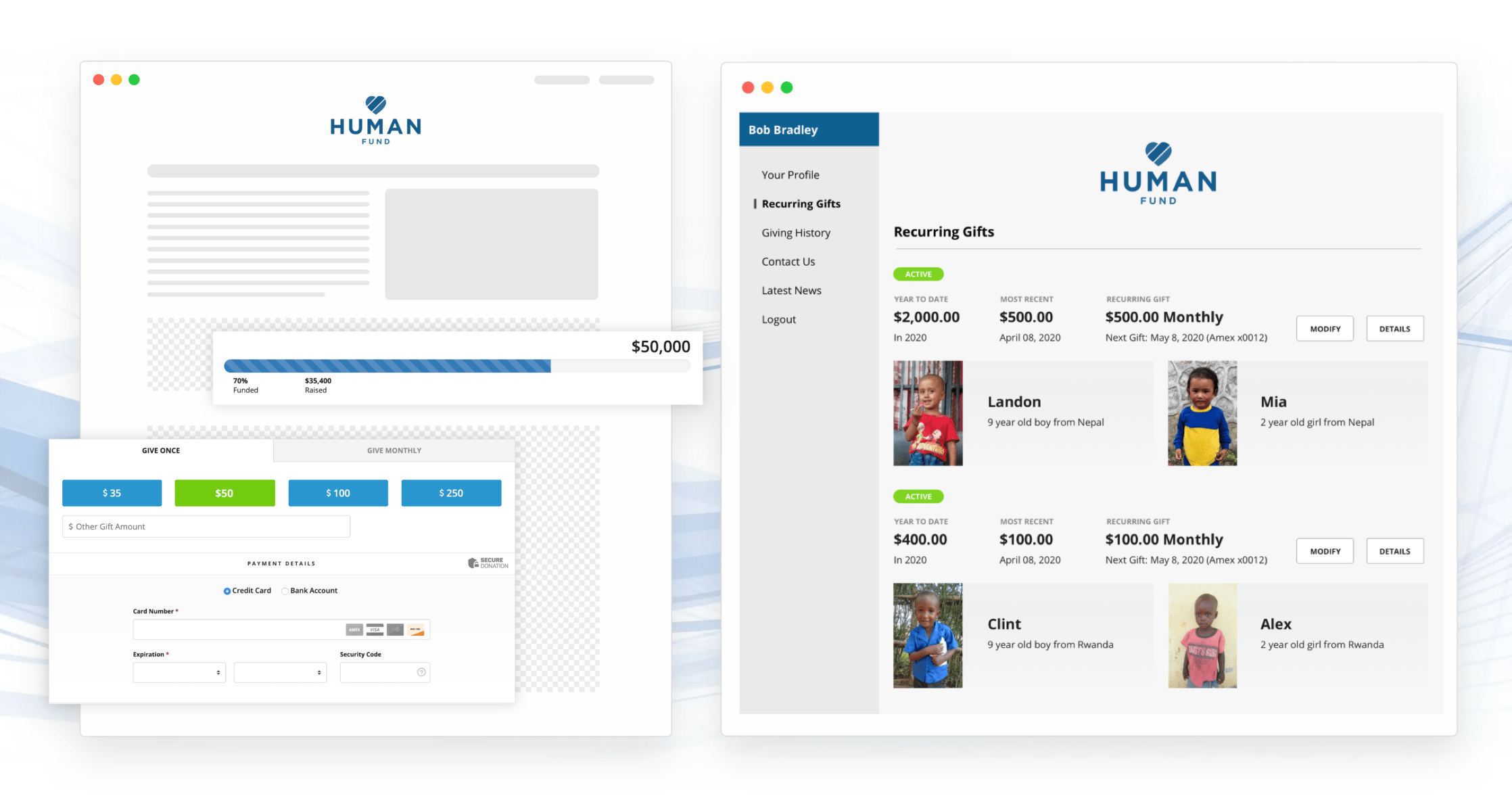 product image of raisedonors online fundraising software
