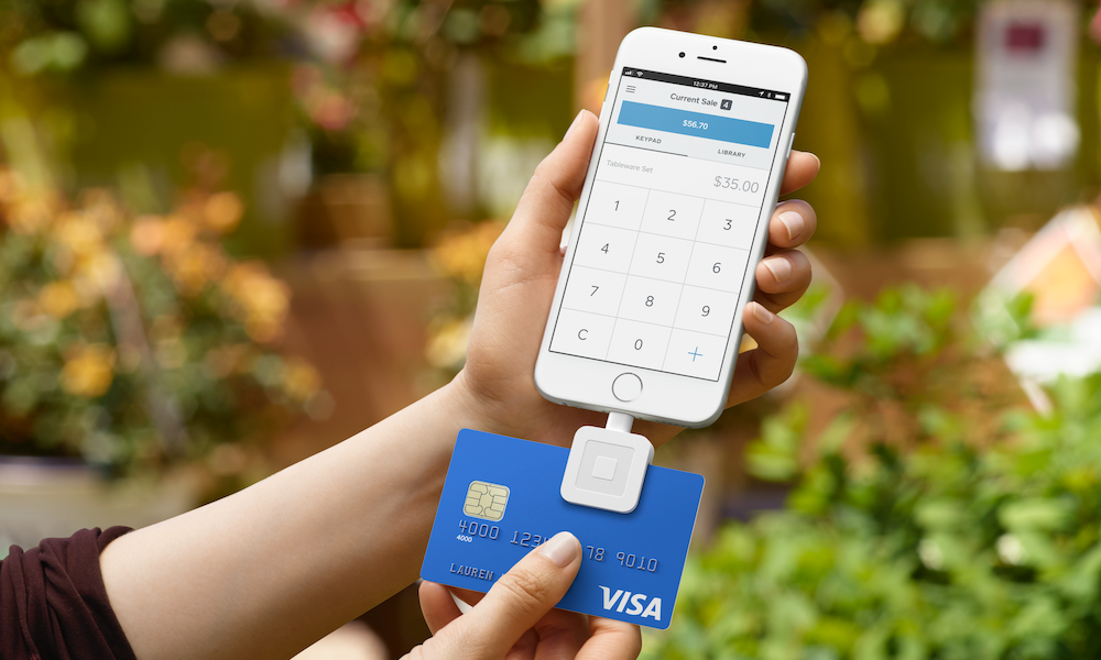 product image of square for nonprofits taking donation