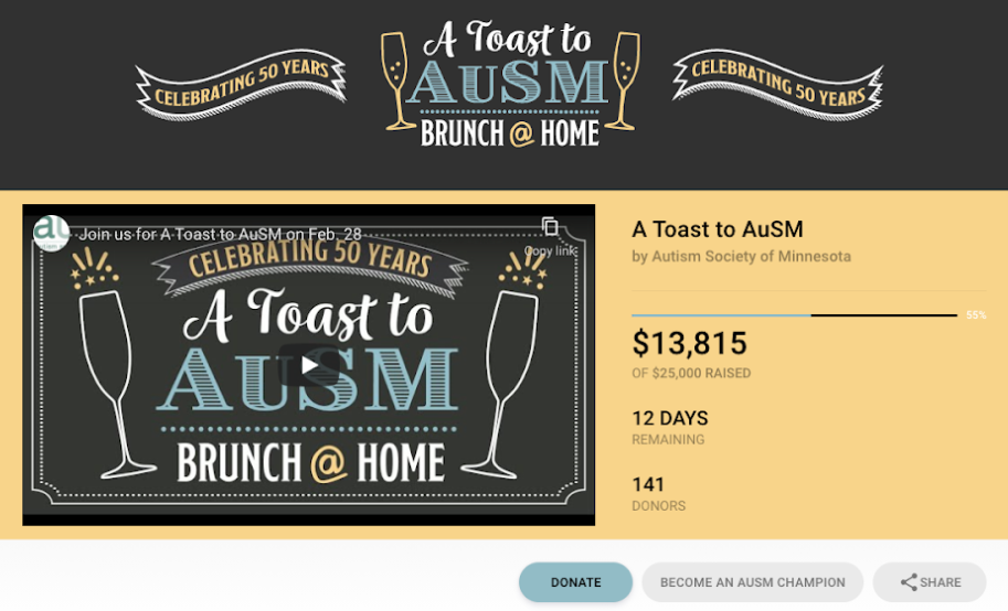 Example of a virtual fundraising gala with livestream component